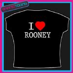 I LOVE HEART ROONEY FOOTBALL MAN U TSHIRT